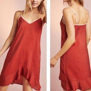 Anthropologie | LACAUSA Ruffle Slip Dress NWT | M